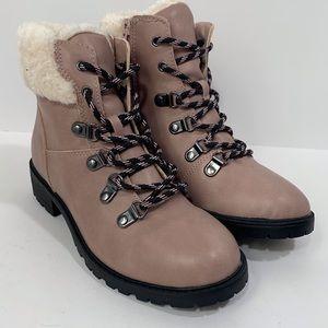 Steve Madden Girls Faux Fur Trim Boots